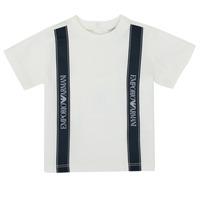 Textil Chlapecké Trička s krátkým rukávem Emporio Armani 6HHTG4-1JTUZ-0101 Bílá