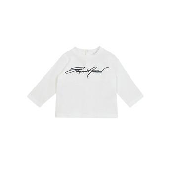 Textil Chlapecké Trička s dlouhými rukávy Emporio Armani 6HHTJN-1JTUZ-0101 Bílá