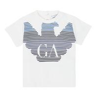 Textil Chlapecké Trička s krátkým rukávem Emporio Armani 6HHTQ7-1J00Z-0101 Bílá