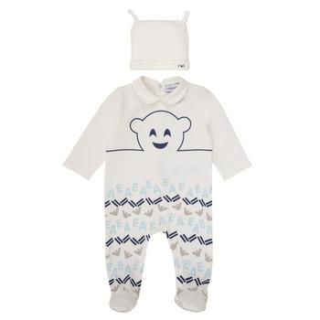 Textil Chlapecké Pyžamo / Noční košile Emporio Armani 6HHV08-4J3IZ-0101 Bílá / Modrá