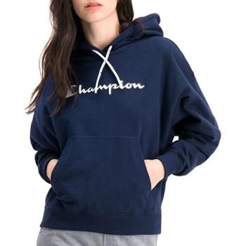 Textil Ženy Mikiny Champion Hooded Tmavomodré