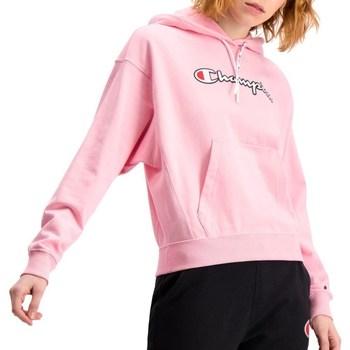 Textil Ženy Mikiny Champion Hooded Růžové