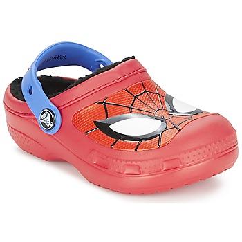 Boty Chlapecké Pantofle Crocs SPIDERMAN LINED CLOG Červená