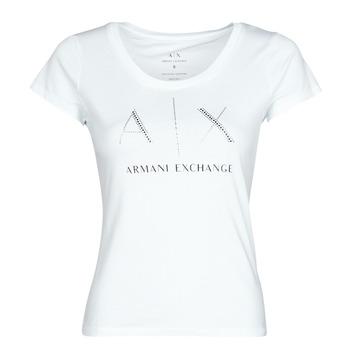 Textil Ženy Trička s krátkým rukávem Armani Exchange 8NYT83 Bílá