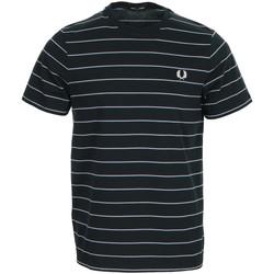 Textil Muži Trička s krátkým rukávem Fred Perry Fine Stripe T-shirt Modrá