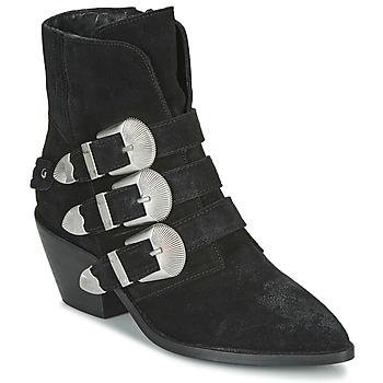 Boty Ženy Kotníkové boty Pepe jeans WESTERN W BUCKLE Černá