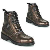 Boty Ženy Kotníkové boty Pepe jeans MELTING TAPE Bronzová