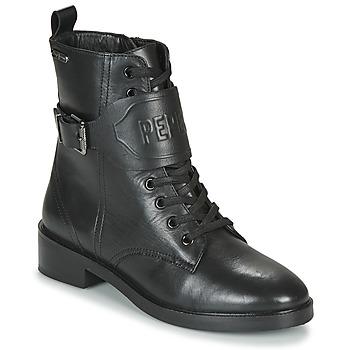 Boty Ženy Kotníkové boty Pepe jeans MALDON LOGO Černá