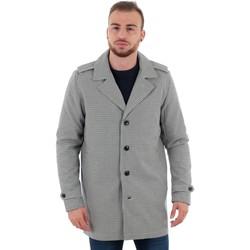 Textil Muži Kabáty Jack & Jones 12152575 JPRDAVE CHECK TRENCHCOAT DARK SLATE Marrón