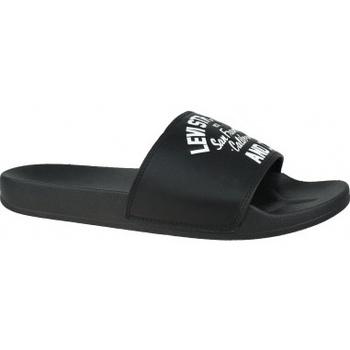 Boty Muži pantofle Levi's Levis June California černá
