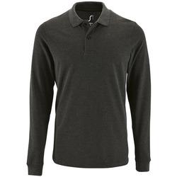 Textil Muži Polo s dlouhými rukávy Sols PERFECT LSL COLORS MEN Gris
