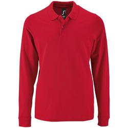 Textil Muži Polo s dlouhými rukávy Sols PERFECT LSL COLORS MEN Rojo