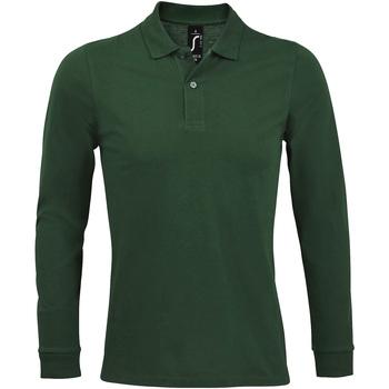 Textil Muži Polo s dlouhými rukávy Sols PERFECT LSL COLORS MEN Verde