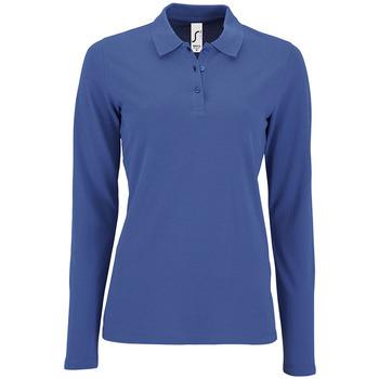Textil Ženy Polo s dlouhými rukávy Sols PERFECT LSL COLORS WOMEN Azul