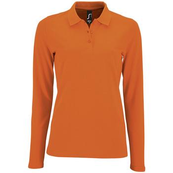 Textil Ženy Polo s dlouhými rukávy Sols PERFECT LSL COLORS WOMEN Naranja