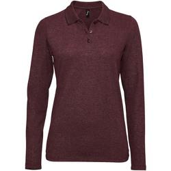 Textil Ženy Polo s dlouhými rukávy Sols PERFECT LSL COLORS WOMEN Violeta