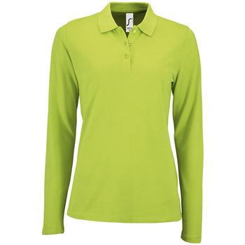 Textil Ženy Polo s dlouhými rukávy Sols PERFECT LSL COLORS WOMEN Verde