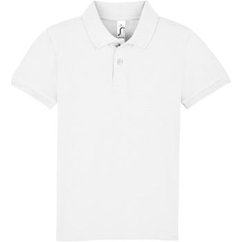 Textil Děti Polo s krátkými rukávy Sols PERFECT KIDS COLORS Blanco