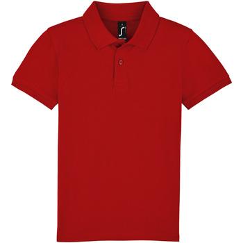 Textil Děti Polo s krátkými rukávy Sols PERFECT KIDS COLORS Rojo
