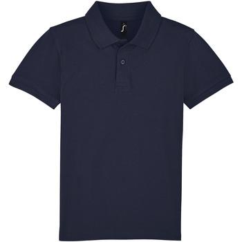 Textil Děti Polo s krátkými rukávy Sols PERFECT KIDS COLORS Azul