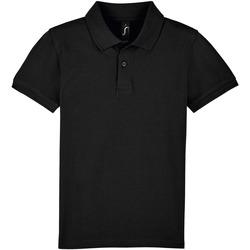 Textil Děti Polo s krátkými rukávy Sols PERFECT KIDS COLORS Negro