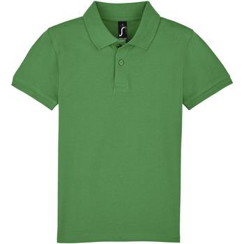 Textil Děti Polo s krátkými rukávy Sols PERFECT KIDS COLORS Verde