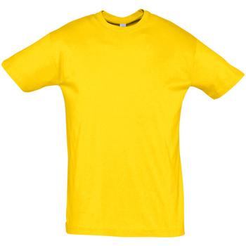 Textil Muži Trička s krátkým rukávem Sols REGENT COLORS MEN Amarillo