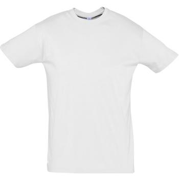 Textil Muži Trička s krátkým rukávem Sols REGENT COLORS MEN Blanco