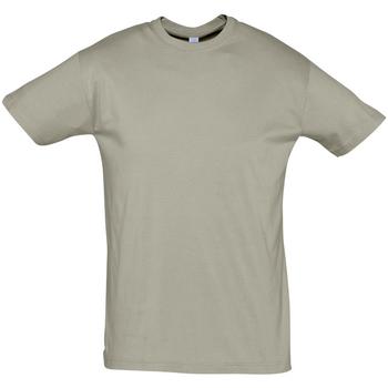 Textil Muži Trička s krátkým rukávem Sols REGENT COLORS MEN Kaki