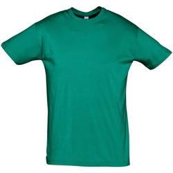 Textil Muži Trička s krátkým rukávem Sols REGENT COLORS MEN Verde