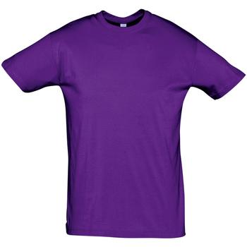 Textil Muži Trička s krátkým rukávem Sols REGENT COLORS MEN Violeta