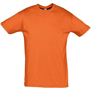 Textil Muži Trička s krátkým rukávem Sols REGENT COLORS MEN Naranja