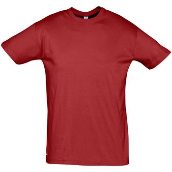 Textil Muži Trička s krátkým rukávem Sols REGENT COLORS MEN Rojo