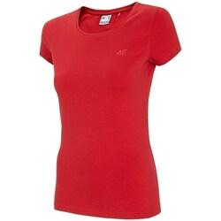 Textil Ženy Trička s krátkým rukávem 4F TSD001 Červené