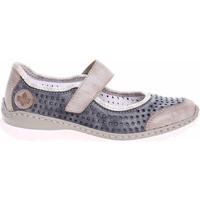 Boty Ženy Baleríny  Rieker Dámská obuv  L32B5-42 blau kombi Modrá
