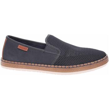 Boty Muži Mokasíny Rieker Pánská obuv  B5265-14 blau Modrá