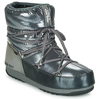 Boty Ženy Zimní boty Moon Boot MOON BOOT LOW SAINT MORITZ WP Šedá