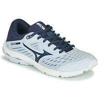 Boty Dívčí Běžecké / Krosové boty Mizuno WAVE RIDER JR Modrá