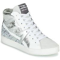 Boty Ženy Kotníkové tenisky Meline IN1363 Bílá / Stříbřitá