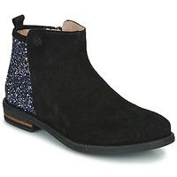 Boty Dívčí Kotníkové boty Acebo's 8035-NEGRO-T Černá