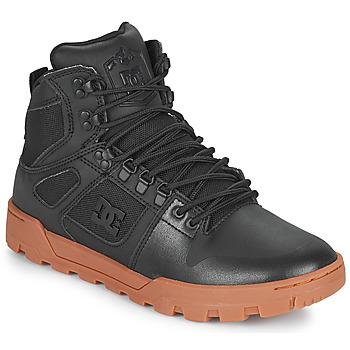 Boty Muži Kotníkové tenisky DC Shoes PURE HIGH TOP WR BOOT Černá