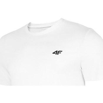 Textil Muži Trička s krátkým rukávem 4F TSM003 Bílé
