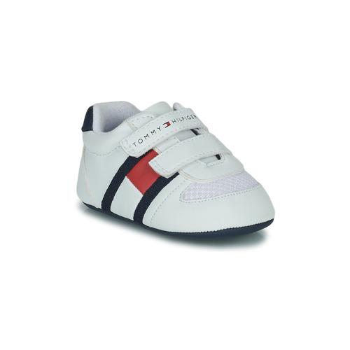 Boty Děti Nízké tenisky Tommy Hilfiger T0B4-30191 Bílá