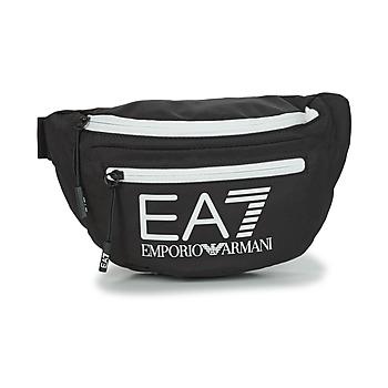 Taška Ledvinky Emporio Armani EA7 TRAIN CORE U SLING BAG Černá / Bílá