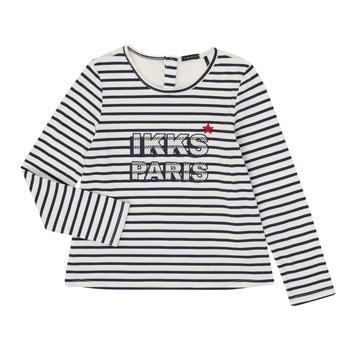 Textil Dívčí Trička s dlouhými rukávy Ikks XR10052 Bílá