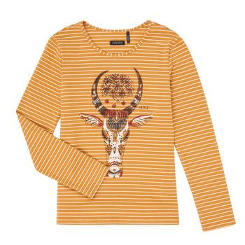 Textil Dívčí Trička s dlouhými rukávy Ikks XR10102 Hnědá