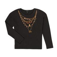 Textil Dívčí Trička s dlouhými rukávy Ikks XR10122 Černá