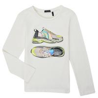 Textil Dívčí Trička s dlouhými rukávy Ikks XR10172 Bílá