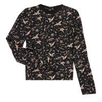 Textil Dívčí Trička s dlouhými rukávy Ikks XR12052 Černá