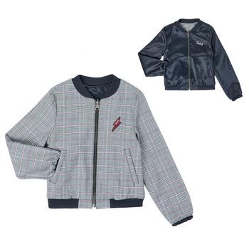 Textil Dívčí Bundy Ikks XR40012 Modrá